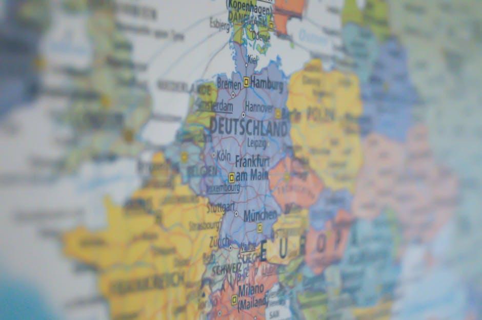 mapa europy jako modny plakat